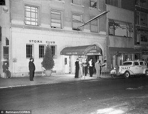 The Stork Club, image courtesy of The Daily Mail.