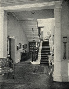 Catharine Lodge hallway, circa 1920. Courtesy of https://rbkclocalstudies.wordpress.com/category/forgotten-buildings/page/2/