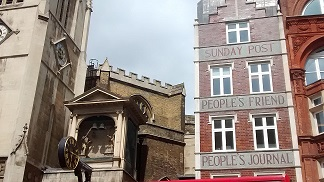 The old People's Post building, Fleet Street