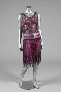 This dress would have been similar to the one Poppy wore to Oscar's Jazz Club with vandyked hem and sequins overlay. Courtesy of https://www.pinterest.com/momofrachel/fashion-art-deco-1920-1940/